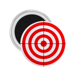 Sniper Focus Target Round Red 2.25  Magnets