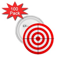 Sniper Focus Target Round Red 1.75  Buttons (100 pack)