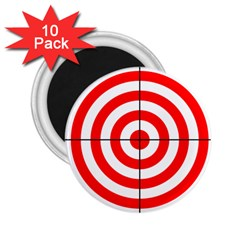 Sniper Focus Target Round Red 2 25  Magnets (10 Pack)