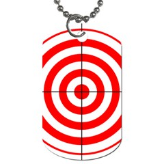 Sniper Focus Target Round Red Dog Tag (one Side)