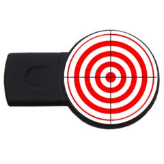 Sniper Focus Target Round Red Usb Flash Drive Round (2 Gb)