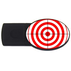 Sniper Focus Target Round Red USB Flash Drive Oval (2 GB)