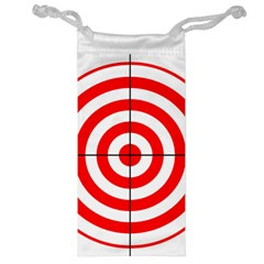 Sniper Focus Target Round Red Jewelry Bag