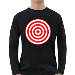 Sniper Focus Target Round Red Long Sleeve Dark T-Shirts