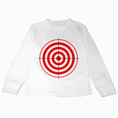 Sniper Focus Target Round Red Kids Long Sleeve T Shirts