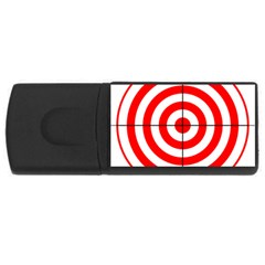 Sniper Focus Target Round Red USB Flash Drive Rectangular (4 GB)