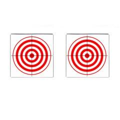 Sniper Focus Target Round Red Cufflinks (square)