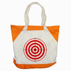 Sniper Focus Target Round Red Accent Tote Bag