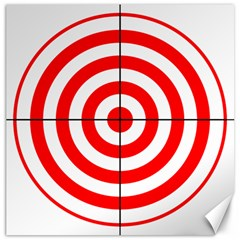 Sniper Focus Target Round Red Canvas 12  x 12