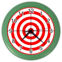 Sniper Focus Target Round Red Color Wall Clocks