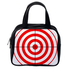Sniper Focus Target Round Red Classic Handbags (One Side)