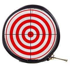 Sniper Focus Target Round Red Mini Makeup Bags