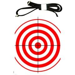 Sniper Focus Target Round Red Shoulder Sling Bags