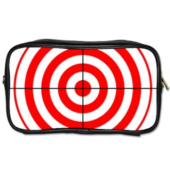 Sniper Focus Target Round Red Toiletries Bags 2-Side