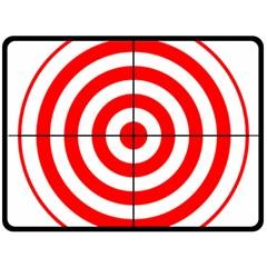 Sniper Focus Target Round Red Fleece Blanket (Large)