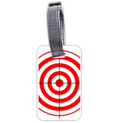 Sniper Focus Target Round Red Luggage Tags (One Side)