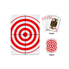 Sniper Focus Target Round Red Playing Cards (Mini)