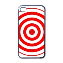 Sniper Focus Target Round Red Apple iPhone 4 Case (Black)