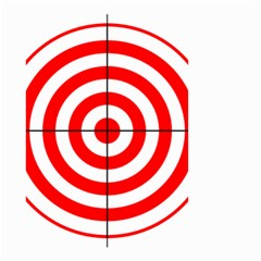 Sniper Focus Target Round Red Small Garden Flag (Two Sides)