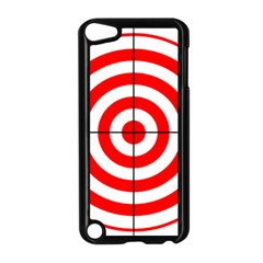 Sniper Focus Target Round Red Apple iPod Touch 5 Case (Black)