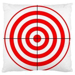 Sniper Focus Target Round Red Standard Flano Cushion Case (One Side)