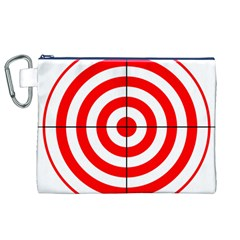 Sniper Focus Target Round Red Canvas Cosmetic Bag (XL)