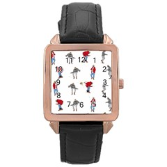 Hotline Bling Rose Gold Leather Watch
