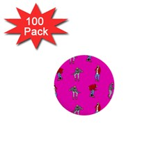 Hotline Bling Pink Background 1  Mini Buttons (100 Pack)