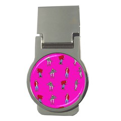 Hotline Bling Pink Background Money Clips (Round)