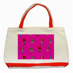 Hotline Bling Pink Background Classic Tote Bag (red)