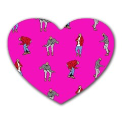 Hotline Bling Pink Background Heart Mousepads