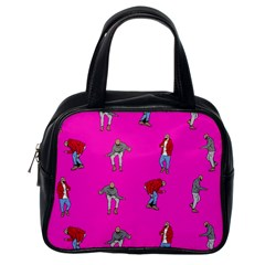 Hotline Bling Pink Background Classic Handbags (one Side)