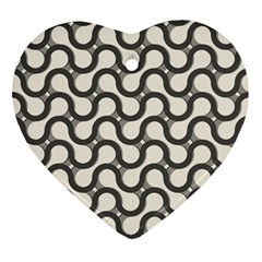 Shutterstock Wave Chevron Grey Ornament (heart)