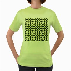 Shutterstock Wave Chevron Grey Women s Green T Shirt