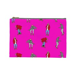 Hotline Bling Pink Background Cosmetic Bag (Large)