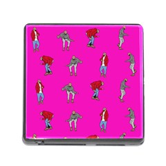 Hotline Bling Pink Background Memory Card Reader (square)