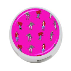 Hotline Bling Pink Background 4-Port USB Hub (Two Sides)