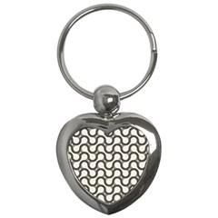 Shutterstock Wave Chevron Grey Key Chains (Heart)
