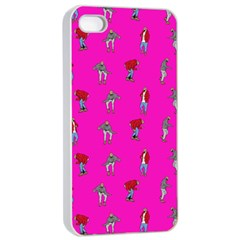 Hotline Bling Pink Background Apple iPhone 4/4s Seamless Case (White)