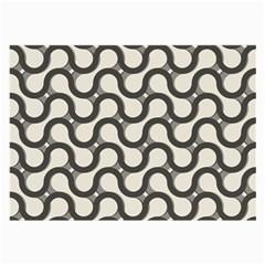 Shutterstock Wave Chevron Grey Large Glasses Cloth