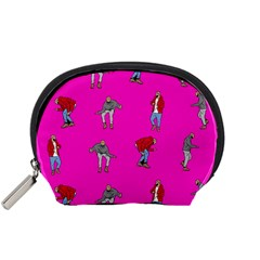 Hotline Bling Pink Background Accessory Pouches (Small)