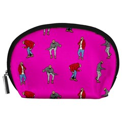 Hotline Bling Pink Background Accessory Pouches (Large)