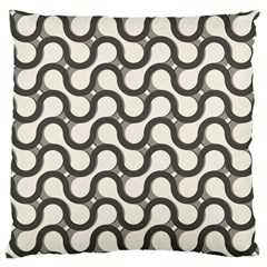 Shutterstock Wave Chevron Grey Large Cushion Case (Two Sides)