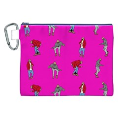 Hotline Bling Pink Background Canvas Cosmetic Bag (XXL)