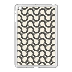Shutterstock Wave Chevron Grey Apple iPad Mini Case (White)