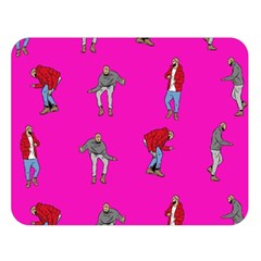 Hotline Bling Pink Background Double Sided Flano Blanket (Large)