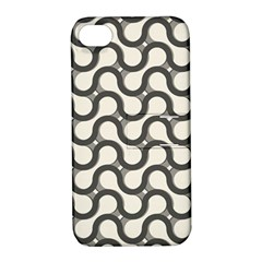 Shutterstock Wave Chevron Grey Apple iPhone 4/4S Hardshell Case with Stand