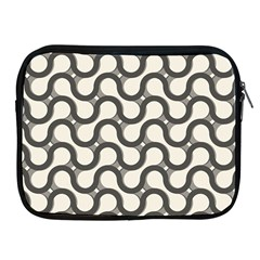 Shutterstock Wave Chevron Grey Apple iPad 2/3/4 Zipper Cases