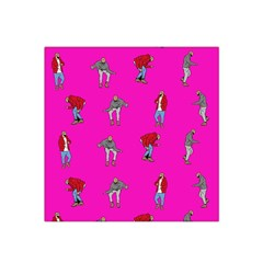 Hotline Bling Pink Background Satin Bandana Scarf