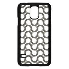 Shutterstock Wave Chevron Grey Samsung Galaxy S5 Case (Black)